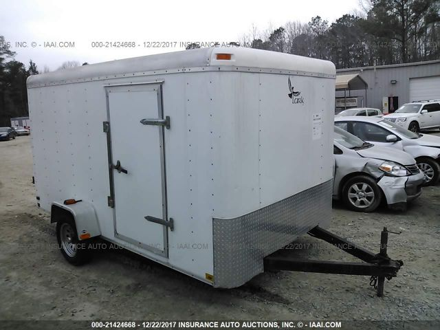 click here to view 2006 LARK ALL WHITE UTILITY TRAILER at IBIDSAFELY