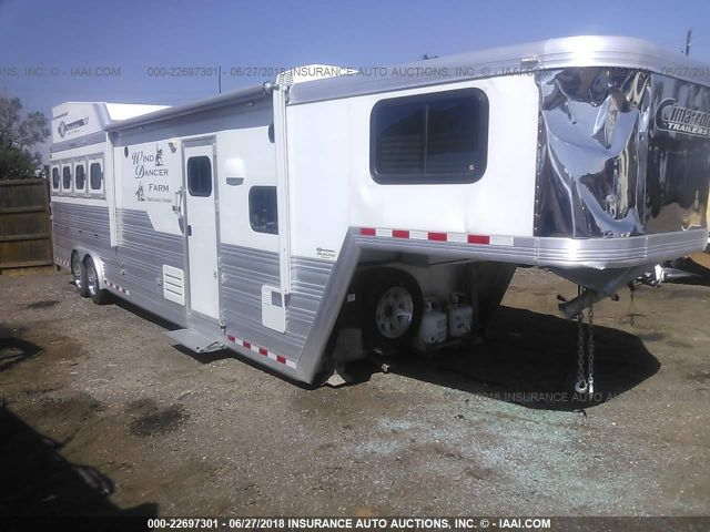 click here to view 2016 CIMARRON NG QUARTERS HORSE TRAILER at IBIDSAFELY