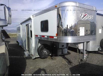 Salvage 2017 EXXISS ALUMINUM TRAILERS LIVESTOCK for sale