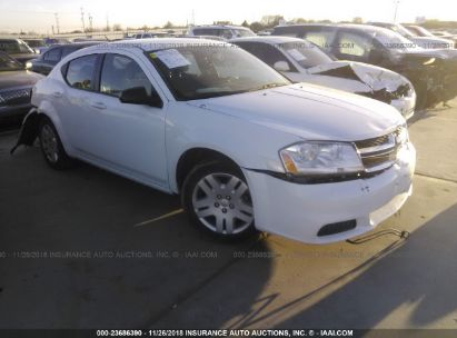 Salvage 2014 DODGE AVENGER for sale