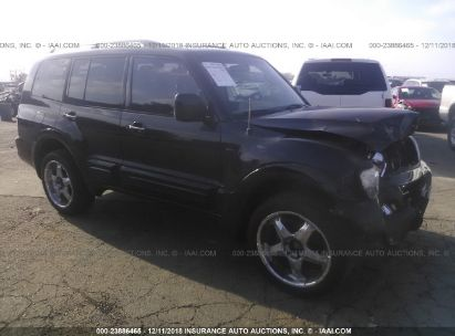 Salvage 2002 MITSUBISHI MONTERO for sale