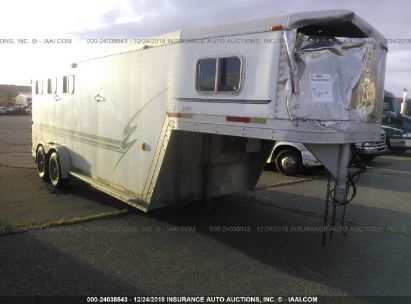 Salvage 1999 EXXISS ALUMINUM TRAILERS LIVESTOCK for sale