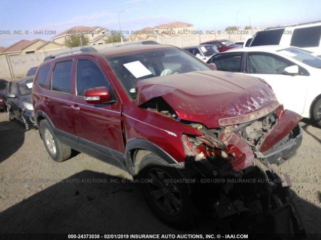 Salvage Title 2009 Kia Borrego 38l For Sale In Phoenix Az