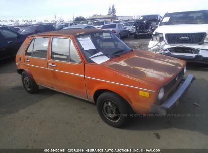 Salvage 1975 VOLKSWAGEN RABBIT for sale