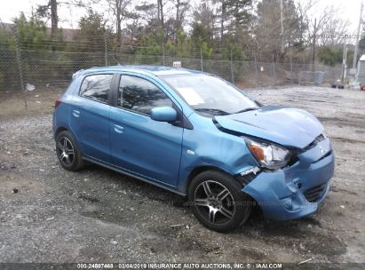 Salvage 2015 MITSUBISHI MIRAGE for sale