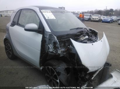 Salvage 2016 SMART FORTWO for sale
