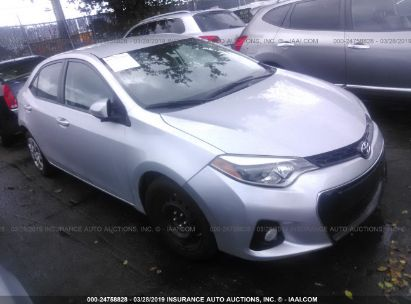 Salvage 2015 TOYOTA COROLLA for sale