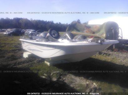 Salvage 2016 CAROLINA SKIFF FISHING BOAT for sale