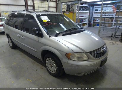 Salvage 2001 CHRYSLER TOWN & COUNTRY for sale
