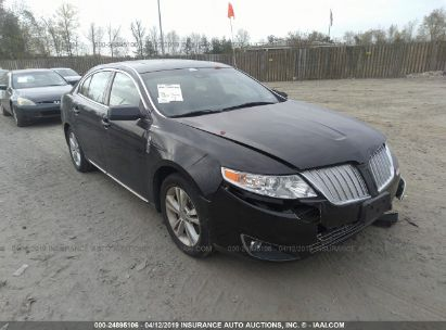 Salvage 2010 LINCOLN MKS for sale