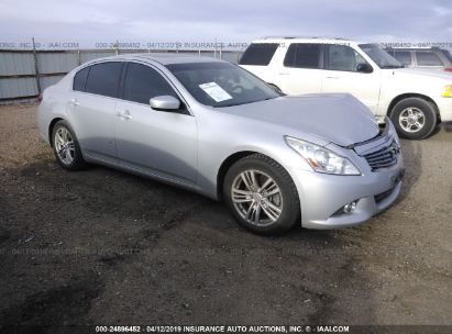 Salvage 2013 INFINITI G37 for sale