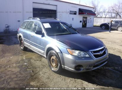 Salvage 2008 SUBARU OUTBACK for sale