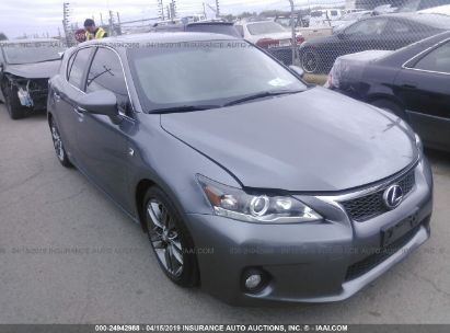 Salvage 2012 LEXUS CT for sale