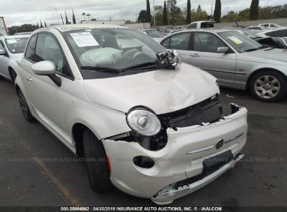 Salvage 2017 FIAT 500 for sale