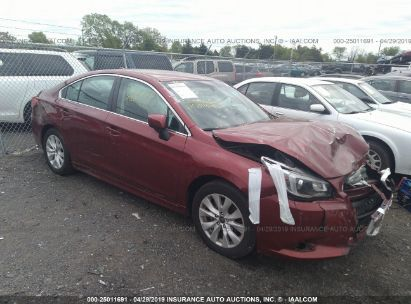 Salvage 2017 SUBARU LEGACY for sale