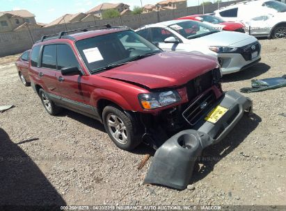 Salvage 2004 SUBARU FORESTER for sale