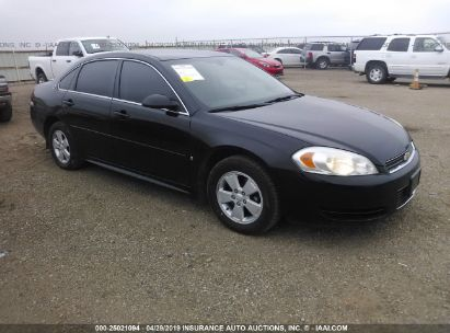 Salvage 2009 CHEVROLET IMPALA for sale