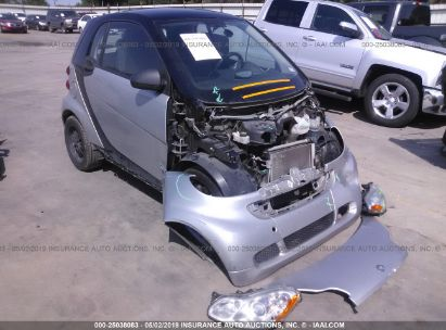Salvage 2012 SMART FORTWO for sale