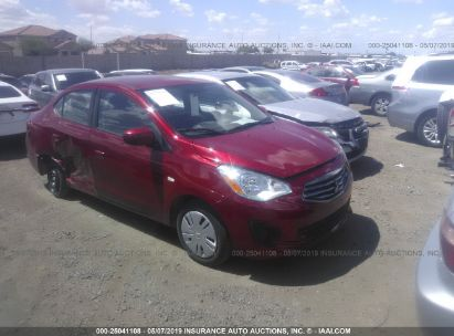 Salvage 2017 MITSUBISHI MIRAGE for sale