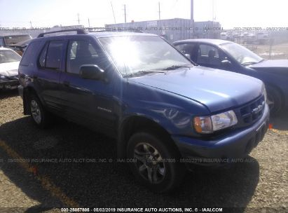 Salvage 2002 ISUZU RODEO for sale