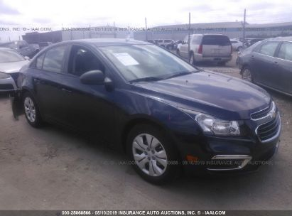 Salvage 2015 CHEVROLET CRUZE for sale
