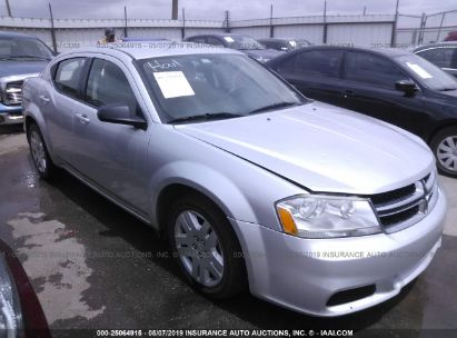 Salvage 2011 DODGE AVENGER for sale
