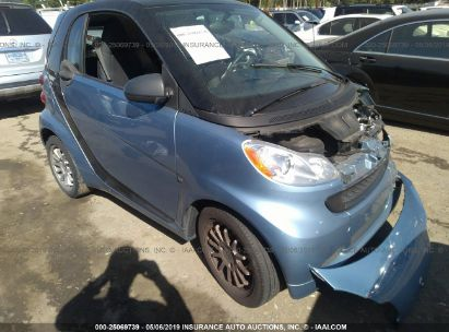 Salvage 2011 SMART FORTWO for sale
