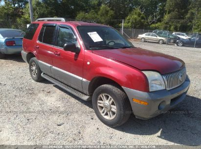 Salvage 2005 MERCURY MOUNTAINEER for sale