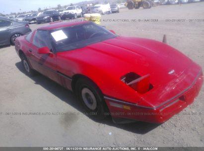 Salvage 1986 CHEVROLET CORVETTE for sale