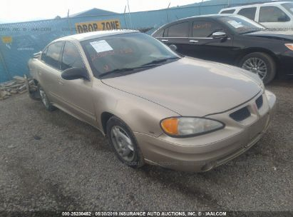 Salvage 2003 PONTIAC GRAND AM for sale