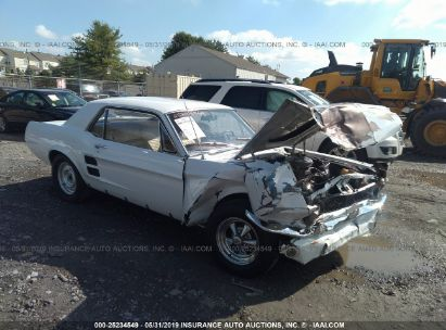 Salvage 1967 FORD MUSTANG for sale