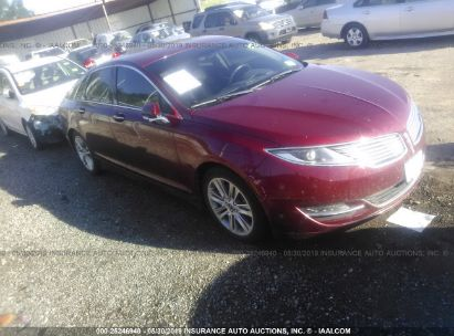 Salvage 2013 LINCOLN MKZ for sale