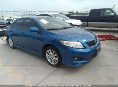 Salvage 2009 TOYOTA COROLLA for sale