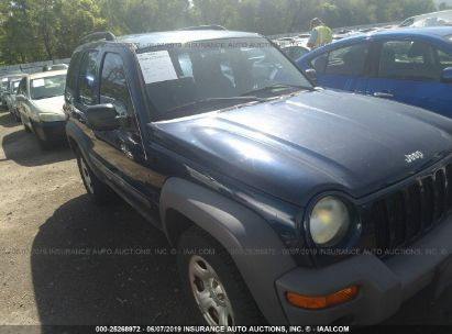 Salvage 2003 JEEP LIBERTY for sale