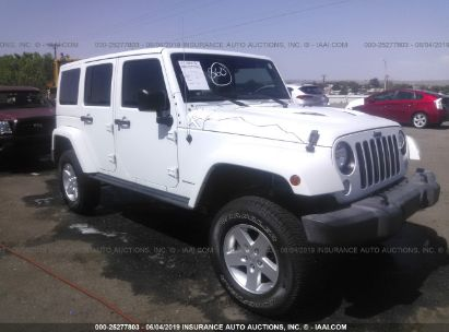 Salvage 2015 JEEP WRANGLER UNLIMITED for sale