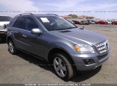 Salvage 2010 MERCEDES-BENZ ML for sale