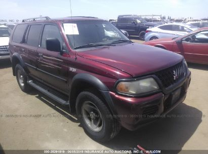 Salvage 2001 MITSUBISHI MONTERO for sale