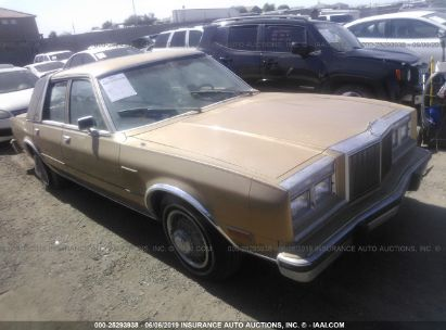 Salvage 1982 CHRYSLER NEW YORKER for sale