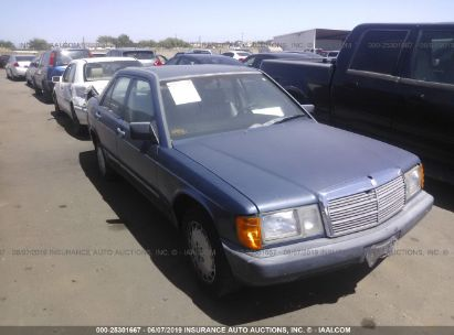 Salvage 1987 MERCEDES-BENZ 190 for sale