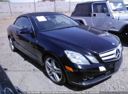 Salvage 2011 MERCEDES-BENZ E for sale