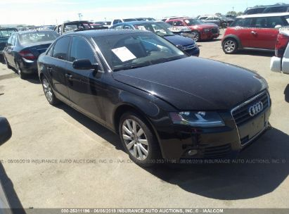 Salvage 2012 AUDI A4 for sale