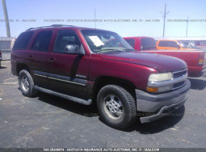 Salvage 2001 CHEVROLET TAHOE for sale