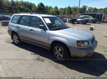 Salvage 2003 SUBARU FORESTER for sale