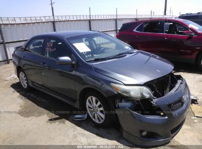Salvage 2010 TOYOTA COROLLA for sale