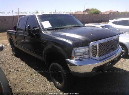 Salvage 2001 FORD F250 for sale