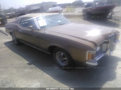 Salvage 1972 MERCURY COUGAR for sale
