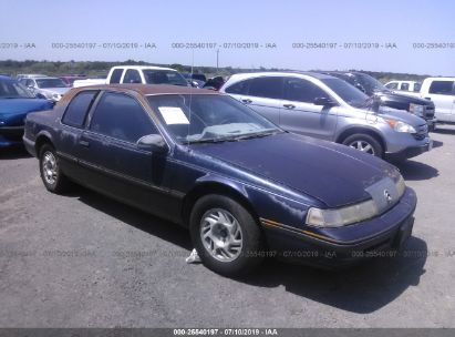 Salvage 1990 MERCURY COUGAR for sale