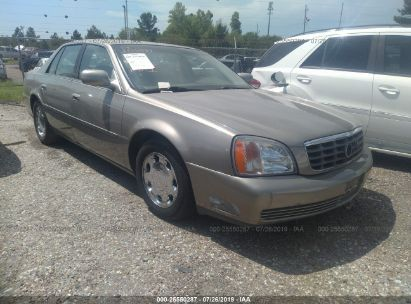 Salvage 2001 CADILLAC DEVILLE for sale