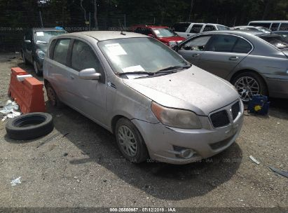 Salvage 2009 PONTIAC G3 for sale