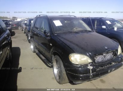 Salvage 2001 MERCEDES-BENZ ML for sale